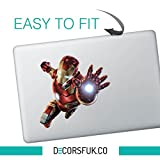 Adesivo per MacBook, motivo: Iron Man in volo, personaggio Marvel, serie comprendente Iron Man, Batman, Superman e Spiderman