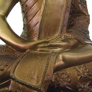 Figura buda iluminado de resina en color dorado y marrón   Tamaño: 29x13x40 cm   Portes gratis 9