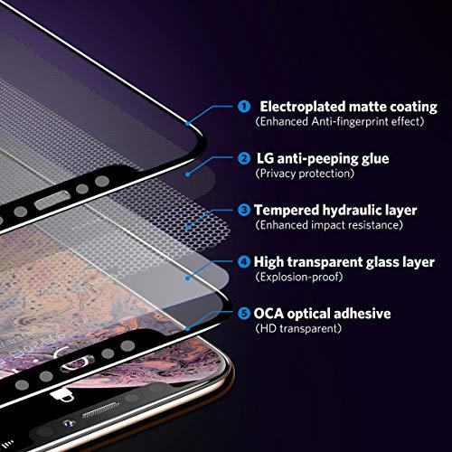 Benks Verre Trempé Anti Espion pour iPhone XS Max Privacy Film de Protection Écran Complet 3D Vitre Protecteur Anti Rayures Ultra Résistant ... 26