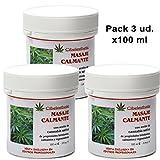 Pack de 3 Crema Calmante con aceite de cannabis - 100ml.