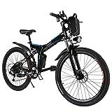 cooshional Bicicletta elettrica Mountain Bike 21 velocità Volano a 7 modalità diametro ruota 26 pollici motor 250W