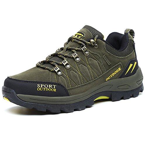 NEOKER Scarpe da Trekking Uomo Donna Arrampicata Sportive All'aperto Escursionismo Sneakers Army...