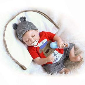 ZIYIUI Muñecas Reborn bebé 50cm 20 Pulgadas Reales Cuerpo Entero Silicona Bebes Reborn niño Realistas Recien Nacidos…