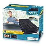 INTEX 64122 Materasso Durabeam Pillow Rest Singolo con Tecnologia Fiber Tech Pompa 341, PVC-Poliestere, 99 x 191 x 42 cm