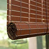 """Bambusrollo Innen- / Außenrollläden Fenstervorhänge, Patio/Pavillon/Pergola/Carport Roll-Up-Sonnenschutz, 90 cm / 100 cm / 120 cm / 150 cm Breit (Color : Redwood, Size : 35"""" x59""""/90cmx150cm)"""