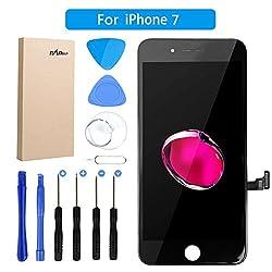Kaufen FLYLINKTECH LCD Touchscreen Für iPhone 7 Display Ersatz Bildschirm Front Komplettes Glas mit Werkzeuge Für Apple iPhone 7 Schwarz (iPhone 7, Schwarz)