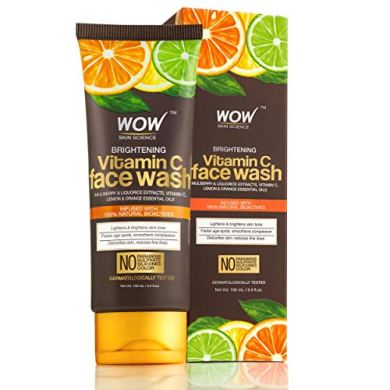 WOW Brightening Vitamin C Face Wash - No Parabens, Sulphate, Silicones & Color - 100mL Tube 10