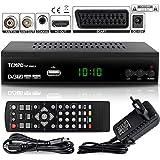 hd-line Tempo 4000 DVB-T2 Receiver - HEVC/H.265 - H.264 / MPEG2 - MPEG4 / 1080i - 1080p Standard (Full HD 1080P, HDMI, SCART, USB 2.0) - Automatische İnstallation Schwarz
