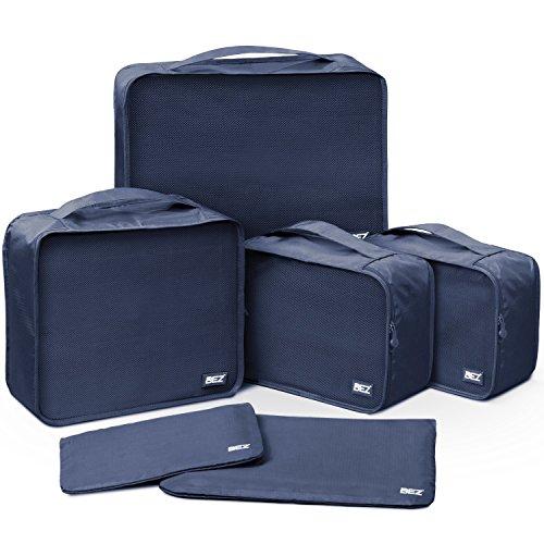 Organizer Valigie, BEZ Set Organizzatori di Viaggio di 6 Imballaggio Cubi di Lavanderia Sacchetto,...