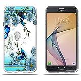 Funda Samsung Galaxy J7 Prime Carcasa de Silicona Transparente TPU, Hermoso Dibujo en Relieve de Mariposas, Flexible -FUBAODA- Resistente a Los Arañazos en su Parte Trasera, Amortigua los Golpes, Funda Protectora Anti-golpes para Samsung Galaxy J7 Prime