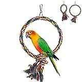 haia7k4k Pet Bird Parrot Columpio Jaula de Juguete Mordidas de Juguete para Perico - Grande