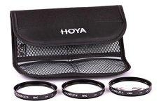 Hoya Close-up Kit - Juego de filtros para macro fotografía (+1, +2, +4, 67 mm) color negro