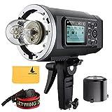Godox Wistro AD600B TTL All-in-One Potente flash esterno con 2.4G X Sistema Costruire-in 8700mAh Li-on della batteria per fotocamera DSLR (AD600B)