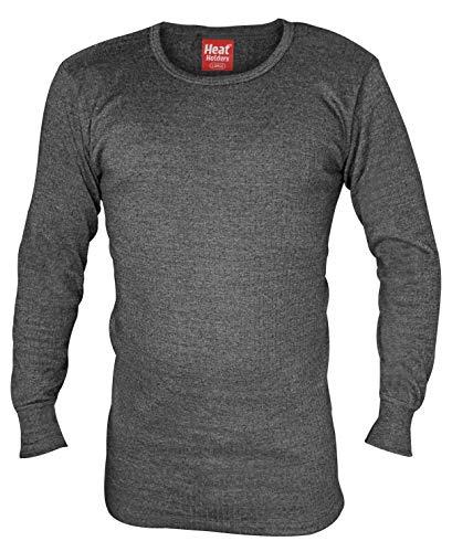 """HEAT HOLDERS - Herren Thermo Innenfleece Outdoor Langarm Unterhemd (Medium (38-40\"""" Chest), Charcoal)"""
