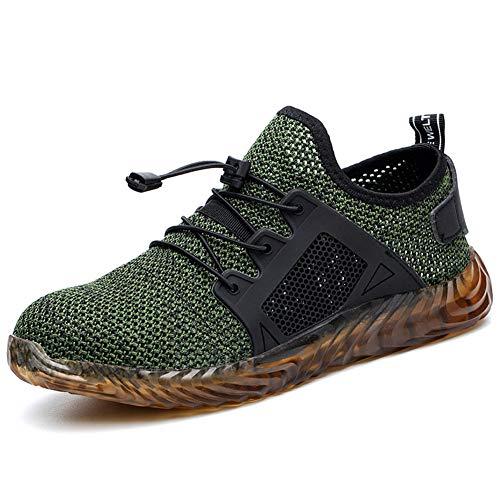 Calzado de Seguridad Hombre Ligero Zapatos de Trabajo S3 Puntera de Acero Transpirables Zapatos de Industria Unisex