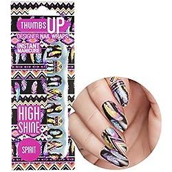 ThumbsUp Nails Spirit Feather festival chiodo//nail polish pellicola adesiva strisce/copertura completa nail art stickers/20involucri per confezione