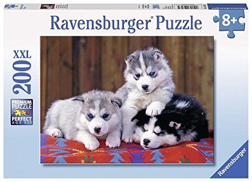 Ravensburger Italy Puzzle Tre Cuccioli di Husky, Multicolore, 200 Pezzi 12823