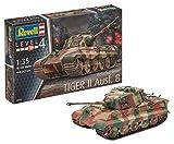 Revell Modellbausatz Panzer 1:35 - TigerII Ausf.B (Henschel Turret) im Maßstab 1:35, Level 4, originalgetreue Nachbildung mit vielen Details, 03249
