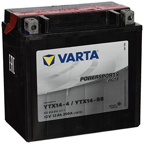 Varta YTX14-BS Powersports AGM Batterie 12V 12Ah 200A