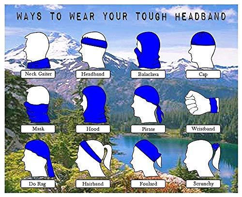 tyutrir Comfort Outdoor Running Headbands Bandana Scarf Wrap Weird Eyes And Woman Seamless Running...