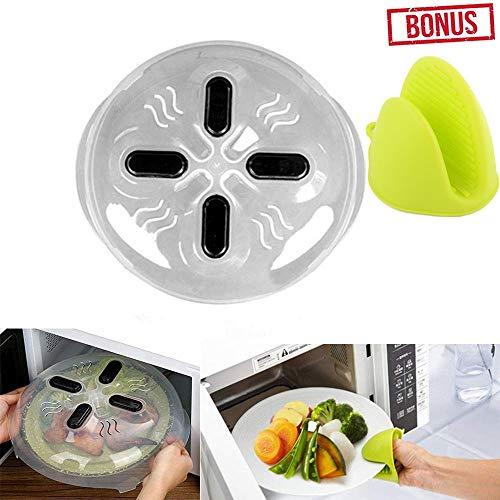 Hover - Copertura magnetica per piatto da forno a microonde, con coperchio, senza BPA, con prese...