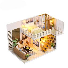 Cvbndfe Regalos Biblioteca Moda Playset DIY habitación Miniatura Set-Woodcraft Construction Kit-Madera Modelo BuildingBest cumpleaños for Mujeres y niñas (Color : Multicolor, tamaño : 13.5x22x13cm)