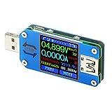 Droking USB C Leistungsmesser, Typ C Meter, UM25 Typ C Spannung und Strom Tester, LCD Display DC 4-24 V 5A Geschwindigkeit von C-Kabel, Kapazität der Power Bank, QC 2.0 3.0