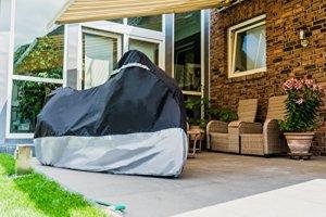 Velmia Motorrad Abdeckplane Outdoor & Indoor für optimalen Schutz - Motorcycle Cover mit perfektem Halt - Roller Abdeckplane 2