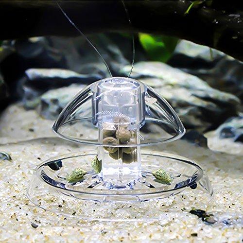 Weehey Trappola per lumache in plastica Libera Esca per acquari con Serbatoio di Pesce