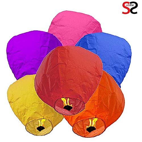 subtle selection Hot Air Balloon Paper Sky Lantern Set of 10