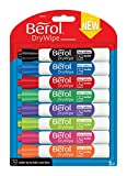 Berol Dry Wipe Bullet Tip Whiteboard Marker - Assorted Colours (Pack of 8)