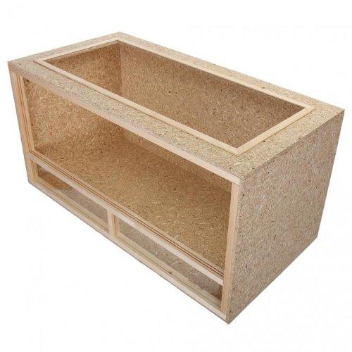 Terrario per tartarughe in legno e truciolato - 120x60x60cm - sistema di areazione superiore
