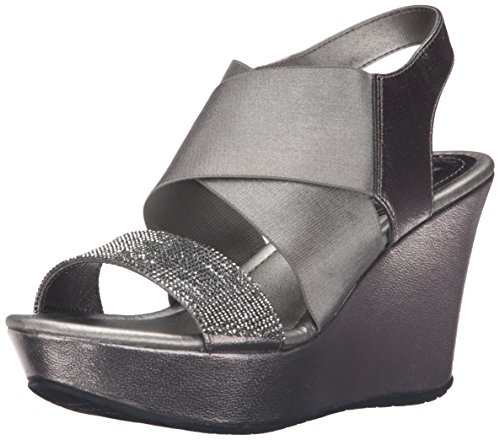 Kenneth Cole Reaction Women's Sole Less 2 Wedge Sandal, Pewter, 6.5 M US