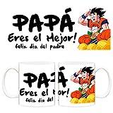 Diver Tazas Taza papá Eres el Mejor Son Goku Gohan - Cerámica