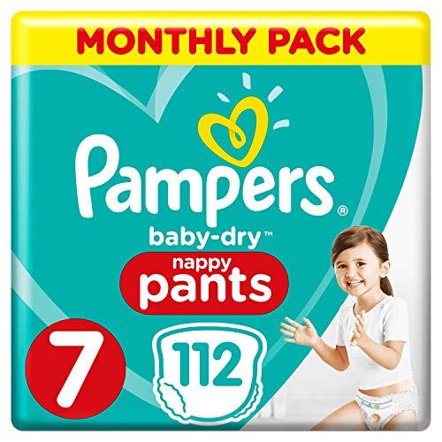Pampers pannolini taglia 7risparmio mensile, 112pannolini, 17+kg, risparmio confezione mensile