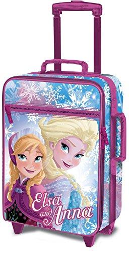 Disney Frozen D97690 Valigia Per Bambini, Trolley Da Cabina, 53 Centimetri, 25 Litri, Multicolore