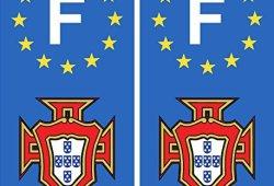 autocollant plaque immatriculation département auto Portugal FPF F blason prêt à acheter