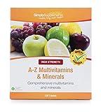 A-Z Multivitaminas - 120 comprimidos - 4 meses de suministro - Fórmula completa con 31 nutrientes - SimplySupplements