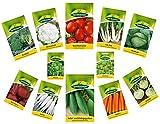 12 variétés | Assortiment de graines de légumes | adapté aux débutants | mélange robuste | maintenant prix spécial d'hiver