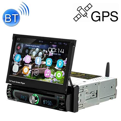Universal Car Radio Receiver 1705AD HD 7 inch 1 Din Universal Car DVD MP5 Player GPS Navigation Multimedia Player Bluetooth Stereo Radio, Support FM & WiFi, Southeast Asia Map Car MP3 & MP4 & MP5