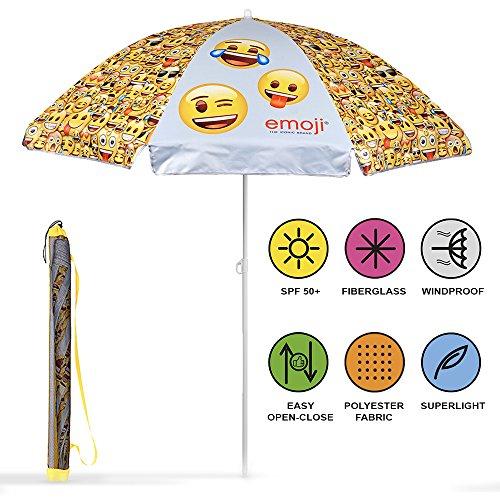 Disney 75056 Perletti Kinder Emoji von Whatsapp Sonnenschirme,UV Schutz 50+, 140 cm