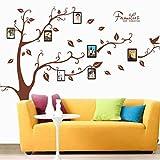 Magiyard Calcomanías adhesivas de la pared de las etiquetas de la pared del PVC del árbol de la foto de 3D DIY (B)