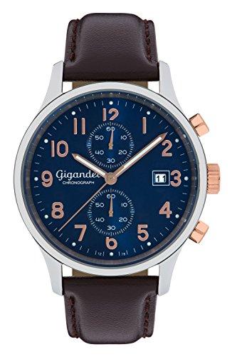 Gigandet Skyscraper Orologio Uomo Cronografo Analogico Quarzo Blu Marrone G49-001