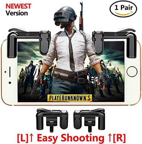 fortnite pubg Mobile Game Controller, Empfindliche Shoot und Ziel Tasten L1R1 Für Messer Out/pubg/fortnite/Rules Of Survival, 1 Paar Survival Game Controller für 11,4–16,5 cm Android iOS Handy