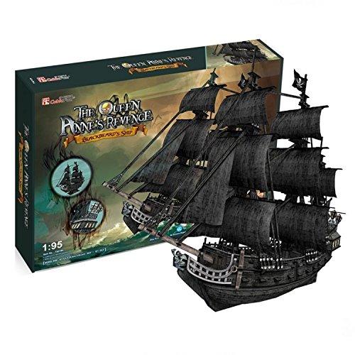 CubicFun 3D Puzzle Queen Anne's Revenge Pirate Ship (Edition Giant) e Titanic (Mini) 2-in-1 Vessel...