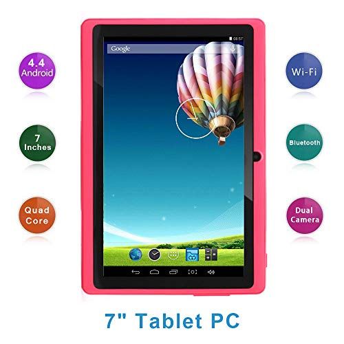 Haehne 7 Pollici Tablet PC, Google Android 4.4 Quad Core, 512MB RAM 8GB ROM, Doppia Fotocamera,...