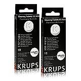Krups XS 3000 Reinigungstabletten für Espresseria Automatic 2er Pack (2 x 10 Stück)
