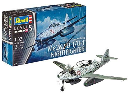 Kit di Montaggio Modellino di Aereo 1:32Revell -Messerschmitt Me262 B-1/U-1 Nightfighter in...