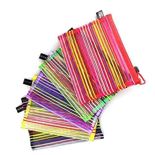 Shirley commerce astucci in nylon in vari colori, set da 5pezzi, organizer, cartellina...
