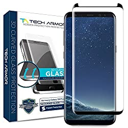 Kaufen Tech Armor Displayschutz aus 3D-Glas für Samsung Galaxy S8 Plus Samsung Galaxy S8 Plus - gewölbter Rand - (Black) - 1 Stück